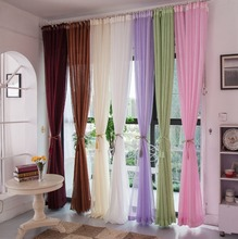 Custom Made Top Grade Cotton Linen Curtains Decorative Cloth Curtain Stripe Fabric Curtains For Living Room Cortinas Sheer Tulle