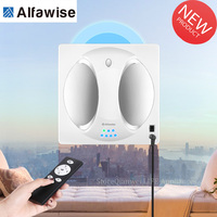 Alfawise WS 960 Smart Window Cleaning Robot Vacuum Cleaner 2800PA Window Glass 4LCD 360 Rotating Remote Control Cleaning Machine