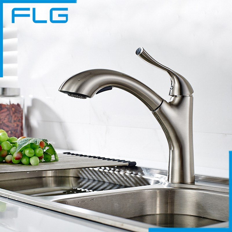 Faucet Mixed Kitchen SUS 304 Stainless Steel Bathroom Tap, Tap Kitchen Brushed Nickel Basin Mixer Faucet okaros nickel brushed 304 stainless steel kitchen sink faucet deck mounted basin tap cold