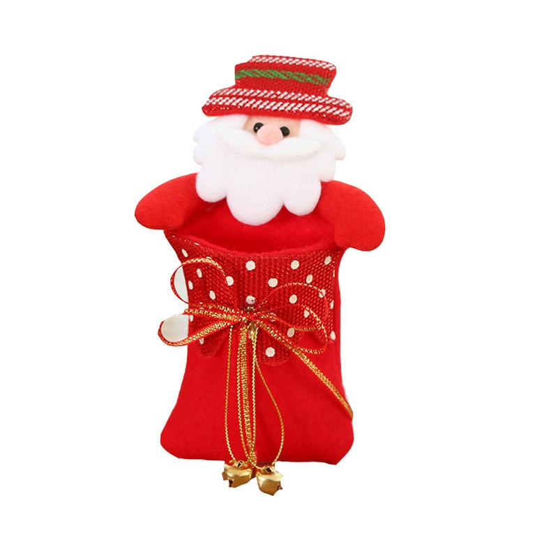 Christmas Doll Elk Snowman Candy Bag Children's Candy Apple Bag