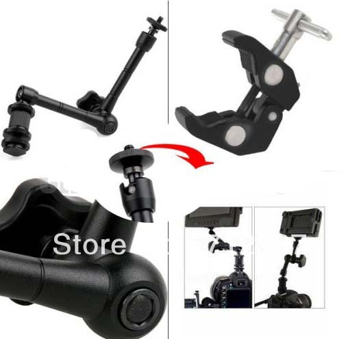 Wholesale for 11 inch Articulating Magic Arm+Super Clamp for Camera Camcorder LCD Monitor LED Light DSLR Rig Movie Kit