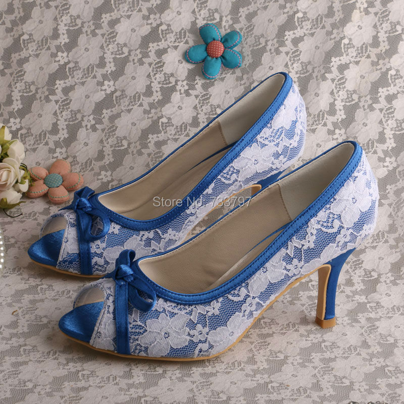ФОТО Hot Sale Ivory Lace Bridal Shoes D'orsay Two-piece Sweet Wedding Dress Pumps High Heels for Woman