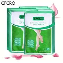 EFERO 7 пар = 14 шт. маска для пилинга ступней Детские маски для ног Крем для ног удаляет омертвевшую кожу кутикулы пятки отшелушивающие носки для педикюра