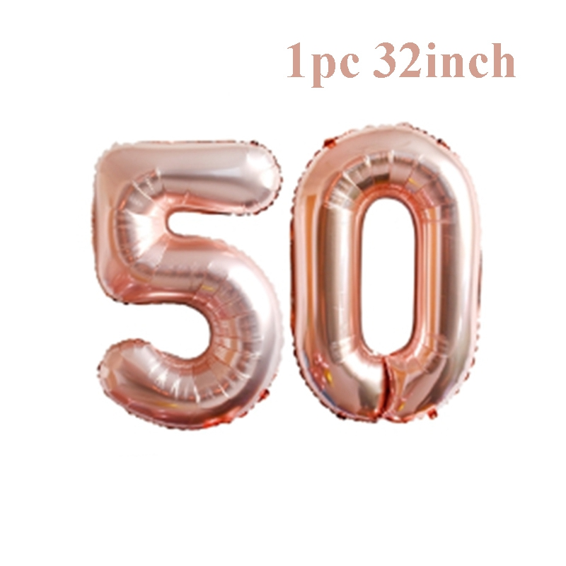aliexpress com buy qifu 50th birthday balloons anniversary rose gold balloon number figure 50 years party decorations women favors supplies from reliable