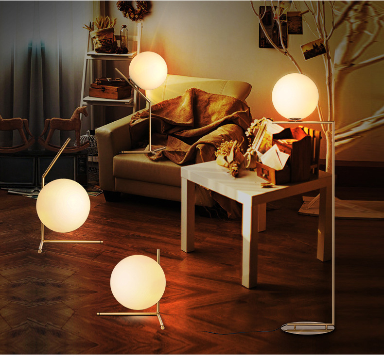 Table lamp Modern Glass Ball LED Stand Lamp Creative Table Light For Study Room /bedroom Free shipping