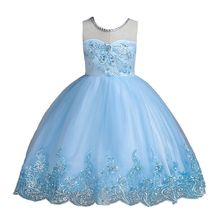 Kids Girls Elegant Wedding Flower Girl Dress Princess Party Pageant Formal Sleeveless Lace Tulle Dress Kids Dress 2-14 Years kids girls elegant wedding flower girl dress princess party pageant formal sleeveless lace tulle dress 2 14 years vestidos nina