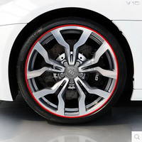 8 Meters Car Alloy Wheel Rim Bumper Strip For Volkswagen Vw POLO Tiguan Passat Golf EOS