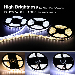 Image 2 - Tira de luces LED Flexible, 5730, 12V, 60LED/m, 5m, 300 LED, más brillante que 5050, 5630