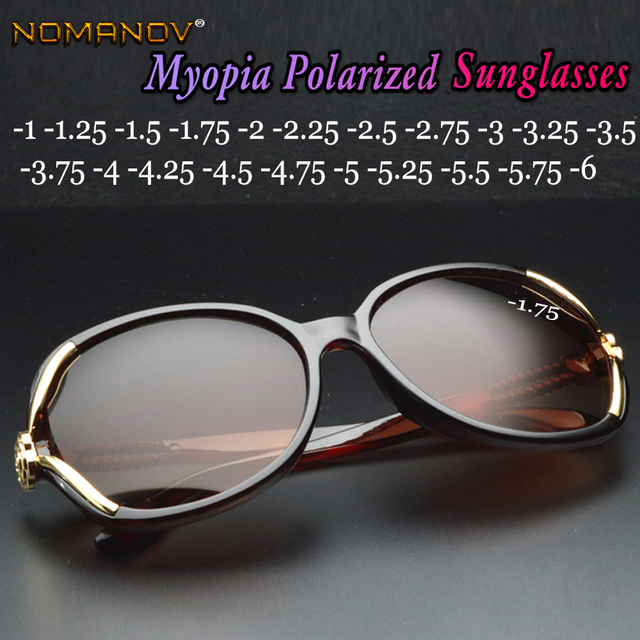 15ce955260e4 Butterfly Women Polarized sun glasses ladies polarized sunglasses Diopter  Custom Made Myopia Minus Prescription Lens -1 to -6