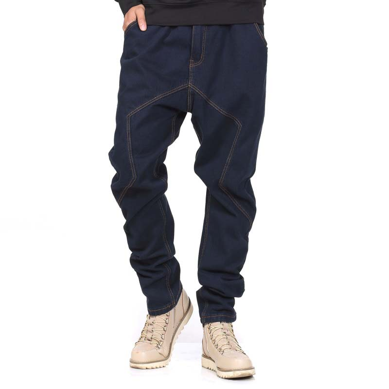 High Quality Harem   Jeans   Men Denim Pants Brand Elastic Waist Hip Hop Trousers Loose Baggy   Jeans   Vintage Plus Size Man Clothes