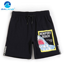 Gailang Brand Beach Board Shorts Boxer Short Pants Men Sexy Swimwear Swimsuits Trunks