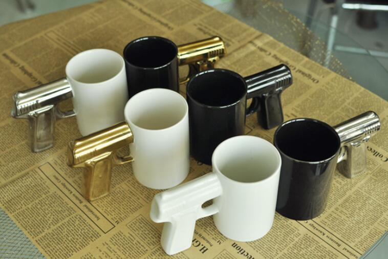 Лидер продаж Роман покрытие ручки пистолет марки чашки Керамика Кофе чашка пистолет кружка молоко Чай стакана воды для дома кафе Best подарок...