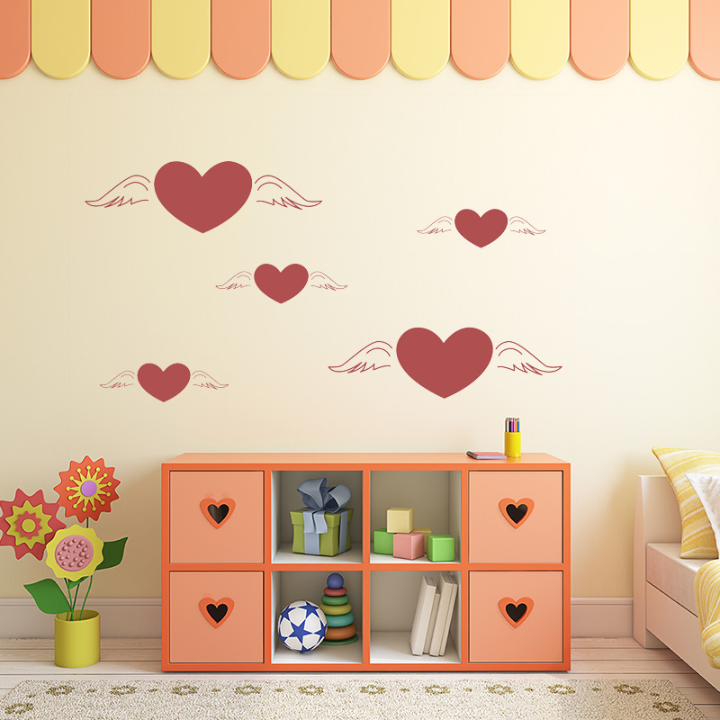 DIY Sweet Love Art Design Wall Sticker Art Nursery Wall Stickers For Kids Rooms Decor Home Decoration Accessories