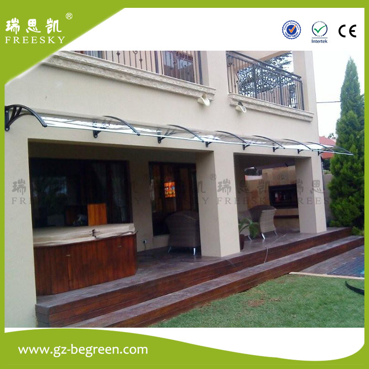YP80100-ALU 80x100cm 80x200cm 80x300cm aluminum supports garden used awning,Front Door awning,polycarbonate awnings