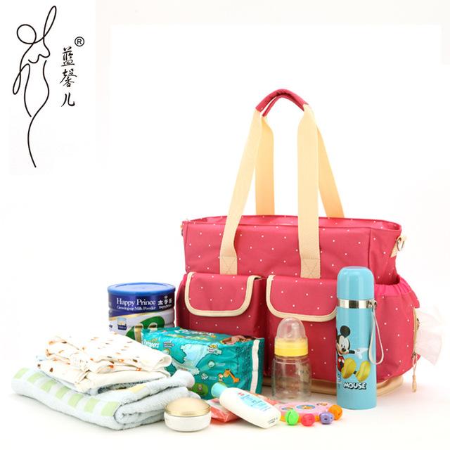 Diseño Nappy bebé bolsa Sac à Langer Couche mensajero del totalizador bolso cambiador Mala maternidad la madre de la momia MMB-10