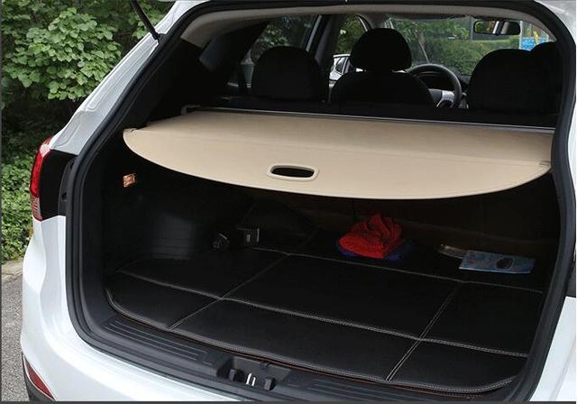 Car Rear Trunk Security Shield Shade Cargo Cover For Kia Niro 2017 2018 2019 Black Beige