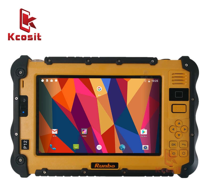 "China Rugged Industrial Waterproof Tablet Phone PC UHF VHF PTT Radio 7"" 1920x1200 Dual Sim Android 6.0 Dustproof GNSS GPS Trucks"