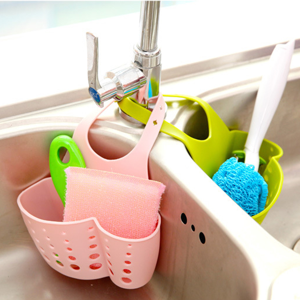 Adjustable Snap Sink Sponge Kitchen Storage Rack Storage Holders & Racks Hanging Rack Kitchen Rack