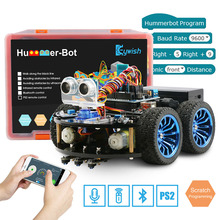 Keywish 4WD робот автомобили для Arduino супер стартовый комплект умный автомобиль приложение RC робототехники обучающий комплект ствол игрушка малыш, поддержка царапинам библиотека