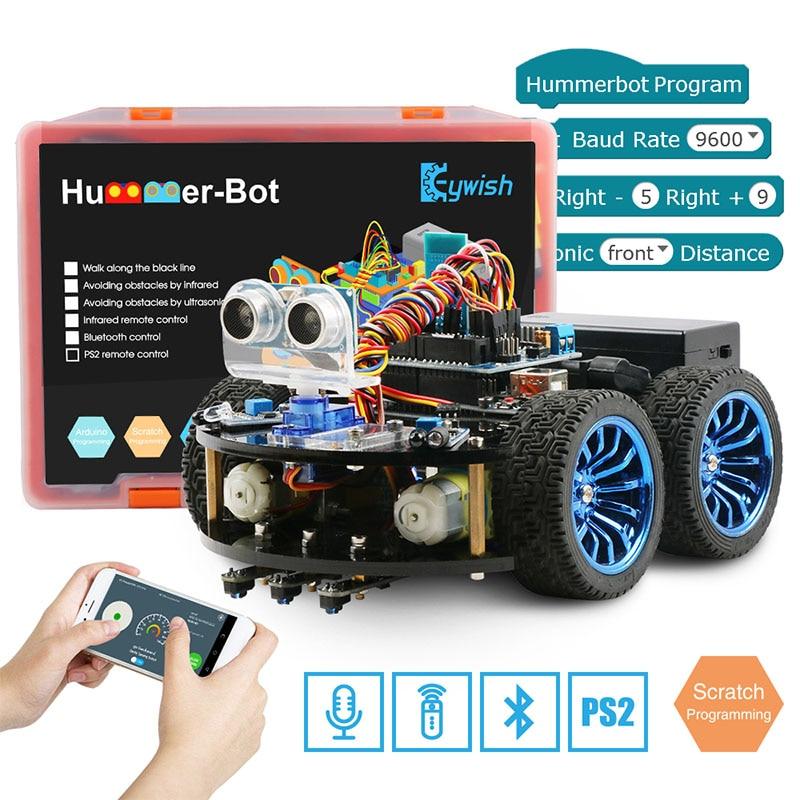 Keywish Robot Voitures pour Arduino Super Starter Kit Voiture Smart APP RC Robotique Kit d'apprentissage TIGE jouet pour enfant, Soutien Scratch Bibliothèque