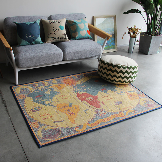 World Map Rug Creative World Map Carpets For Living Room New Modern Rugs For
