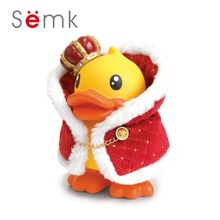 B.Duck Baby Simulation Doll King Crown Clothes Cartoon Kids Toys for Girls Children Baby Birthday Christmas Gift(China)