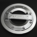 For 2011- 2013 2014 2015 Mitsubishi ASX ABS Chrome Tank Cover Fuel Oil Gas Tank Cap Protector Sticker Car-Styling Accessories