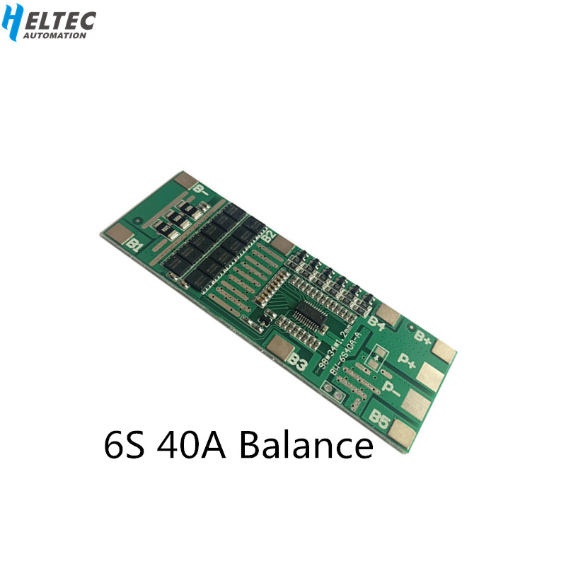 6S 40A 22V24V BMS Board/Lithium Battery Protection Board With Balanced Power Tools Solar Lighting  Integrated BMS