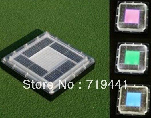 2013 Steady ON Solar LED Traffic Sign Security Light Road Stud Decor Light .196*196*50mm