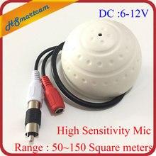 NEW 50-150 Square Meters High Sensitivity Mini CCTV Security Surveillance Microphone Audio Input For 1080P Wifi IP Cameras DVR