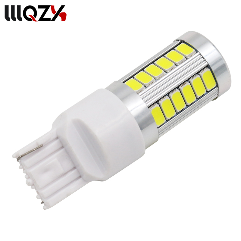 1PCS T20 7440 W21W WY21W 33 smd 5730 5630 LED Car Yellow Amber Turn Signal Bulb Red Brake light White Auto Reverse Lamps 12V 2X 2pcs t20 30w 7440 7443 5630 5730 smd 33 led car turn signal brake light parking lights auto fog lamps white 6500k dc12v