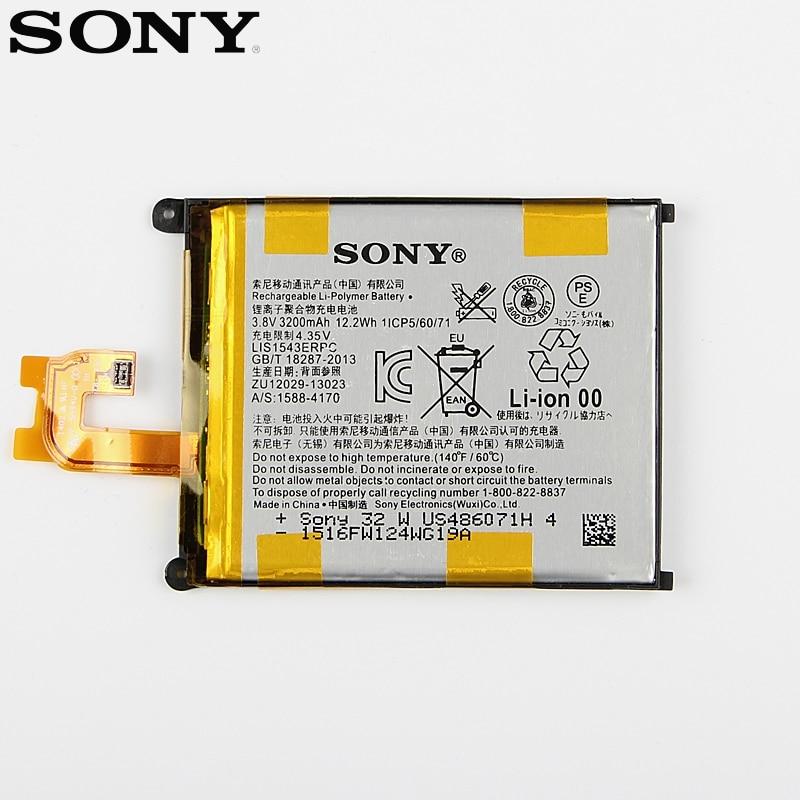 Original Ersatz Sony Batterie Für SONY Xperia Z2 L50w Sirius SO-03 D6503 D6502 LIS1543ERPC Echten Telefon Batterie 3200 mAh