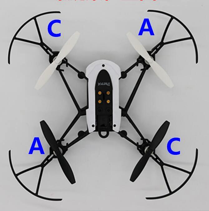 4pcs/set Parrot Minidrones 3 Generation Mambo Swing Propeller Blades