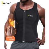 Junlan Men Sauna Vest Neoprene Slim Waist Trainer Male Body Control Bodysuit For Workout Weight Loss