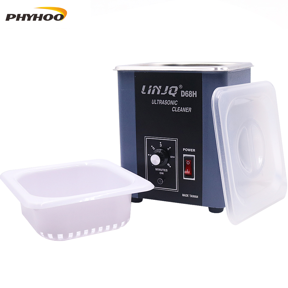 D68H Jewelry ultrasonic cleaning machine Gold and Silver Copper Jewelry Glasses Clock Dental Decontamination Degreasing cleaning