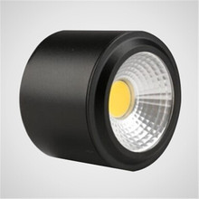 1pcs White/Black/Sliver body No need Opening hole 7W COB down light Ceiling Epistar Chip,CE & RoHS ,Free Shipping