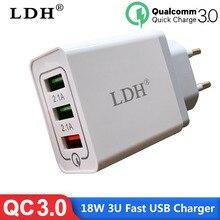 3 порта быстрое зарядное устройство 3,0 USB зарядное устройство адаптер питания для iPhone iPad samsung мобильные телефоны Huawei QC3.0 дорожное быстрое зарядное устройство