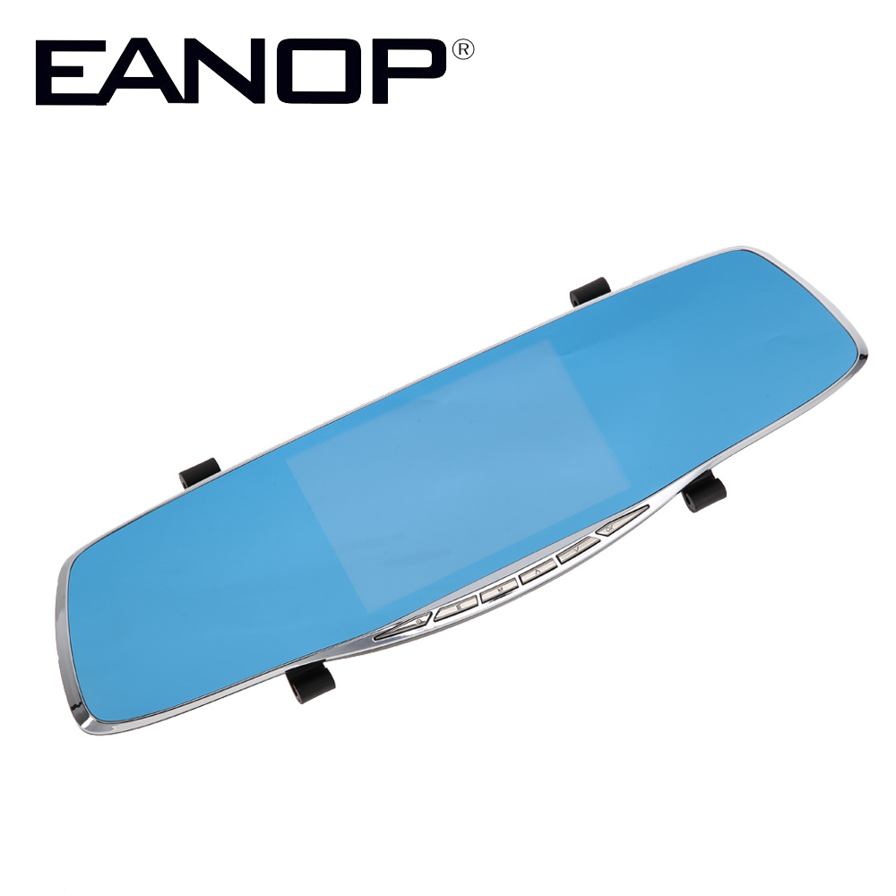 EANOP Dashcam Car Camera 5.0 Inch Car Mirror DVR Dual Lens 1080P GPS TF card with Rearview Camera