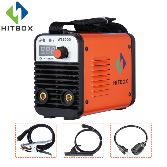 HITBOX Arc Welder 110V 220V MMA Welding Machine AT2000 Inverter Arc Welders Dual Voltage IGBT Technology New Arrival Mini Welder