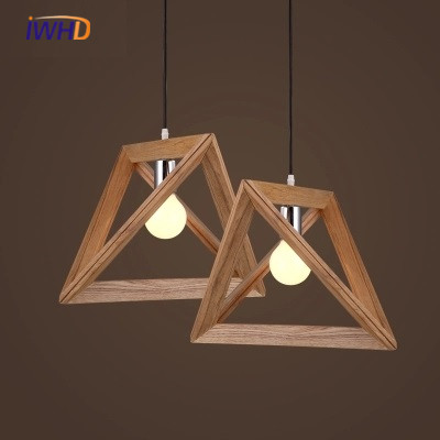 IWHD Nordic Pendant Lights For Home Lighting Modern Hanging Lamp Wooden Lampshade LED Bulb Bedroom Kitchen Light 90-260V E27 nordic modern wood glass pendant lights simple art coffee restaurant hanging lamp living bedroom pendant lamp for home lighting