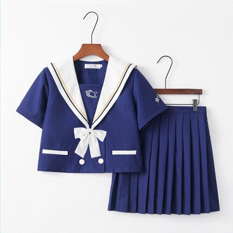 Work Wear & Uniforms School Uniforms Uphyd New Arrival Blue Jk School Uniform Girls Cosmic Little Meteor Orthodox High School Women Novelty Sailor Suits Uniforms To Win A High Admiration