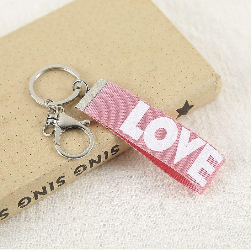 1PCS  Fashion New letter ribbon key ring pendant Keychain Jewelry YS-320