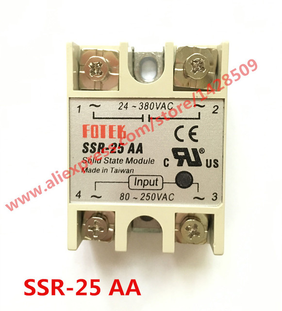 1 Piece Solid State Relay SSR AC Control AC SSR 25 AA 80 250V AC To ...