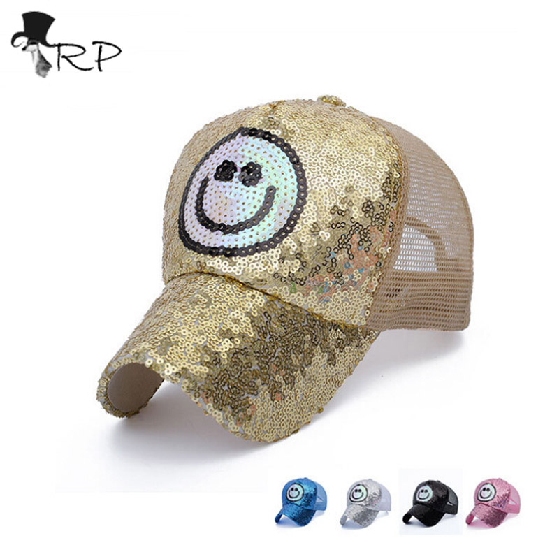 icy hats baseball caps with bling new suede sequin embroidery smile font cap wholesale womens