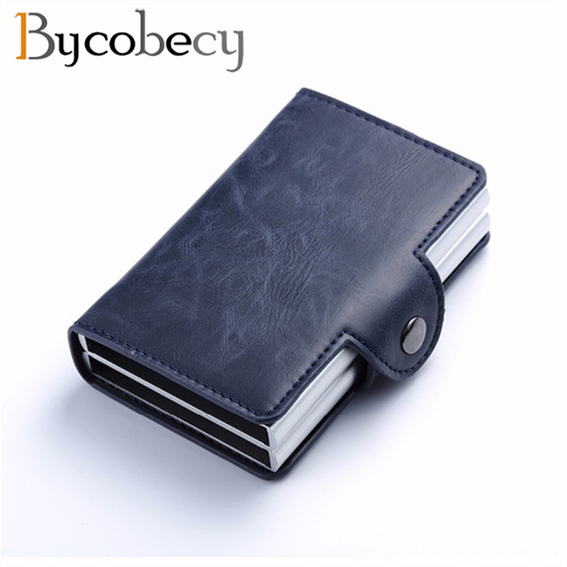 Bycobecy  Smart Wallet Pop Up Women Credit Card Holder High Quality RFID Blocking Multifunctional ID Card Case 2019 Luxury