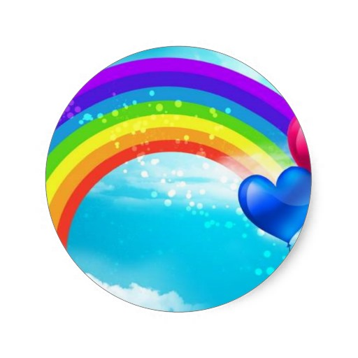 3 8cm beautiful rainbow classic round sticker in stickers from home garden on aliexpress com alibaba group
