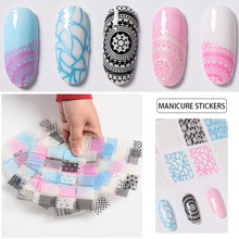 T-TIAO CLUB Multi Color 3D Nail Sticker Transfer Stickers Heart Star Stripe Wave Adhesive Decals Art Decoration Manicure DI
