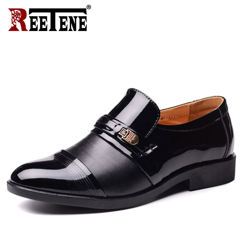 Able Reetene Fashion Business Dress Men Shoes 2019 Slip On Dress Shoes Men Oxfords High Quality Leather Oxford Shoes For Men 38-48 Men's Shoes
