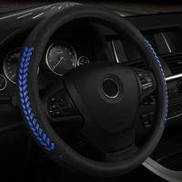 Hand Woven Leather Car Steering Wheel Cover For VOLVO C30 S40 S60 S60L S80 S80L V40