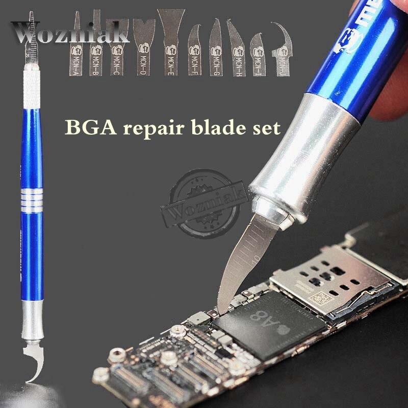 bilder für Wozniak BEST BGA reparatur blades set CPU stichel werkzeug Ultra dünne klinge motherbroad reparatur IC werkzeug